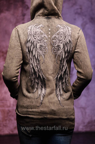 Худи AFFLICTION LOVINGTON L/S ZIP HOOD