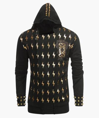 Толстовка The Saints Sinphony LIGHTNING ZEUS HOODY GOLD