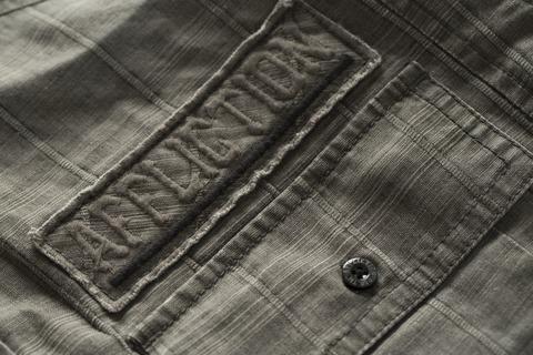 Affliction | Рубашка мужская GRITTY ASH 110WV616 передний карман