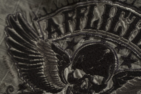 Affliction | Рубашка мужская GRITTY ASH 110WV616 вышивка на спине