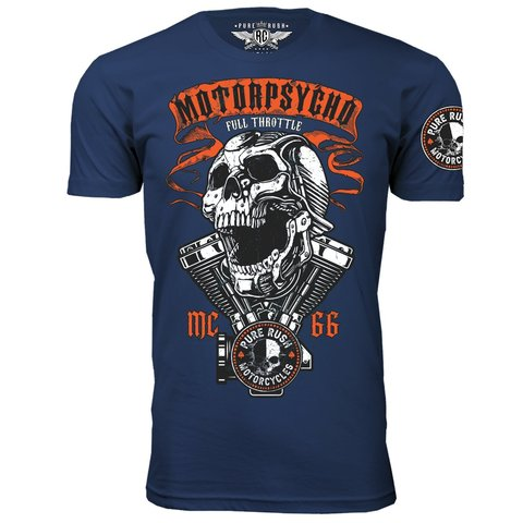 Футболка FULL THROTTLE Navy Blue Rush Couture. Made in USA