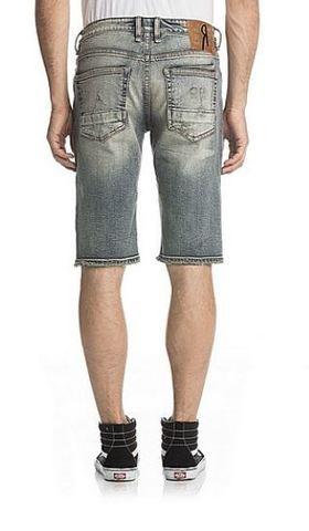 Remix   Шорты мужские джинсовые DESTROYED VINTAGE SHORTS RX8011H107 от Rock Revival с карманами сзади
