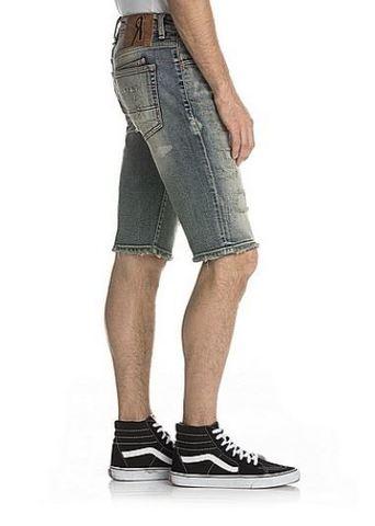 Remix   Шорты мужские джинсовые DESTROYED VINTAGE SHORTS RX8011H107 от Rock Revival правый бок