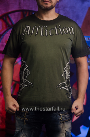 Футболка Randy Couture от Affliction зеленого цвета