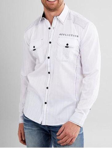 Affliction | Рубашка мужская Wayward 110WV845 со змеей перед