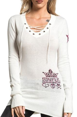 Платье-туника AVERY SWEATER DRESS Sinful от Affliction