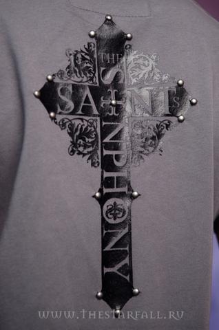 The Saints Sinphony | Футболка мужская MY BLACK HEART TS235SS принт на спине