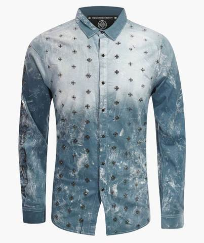 Рубашка The Saints Sinphony BULLETPROOF BUTTON UP MED BLUE