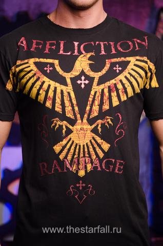 Affliction | Футболка мужская Rampage Army Signature Series A2954 принт спереди