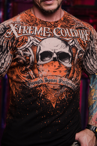 Футболка ORTHODOX Xtreme Couture от Affliction принт спереди череп с банданой