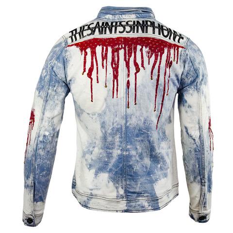 Куртка джинсовая The Saints Sinphony RED DRIP JACKET TSJ053 спина