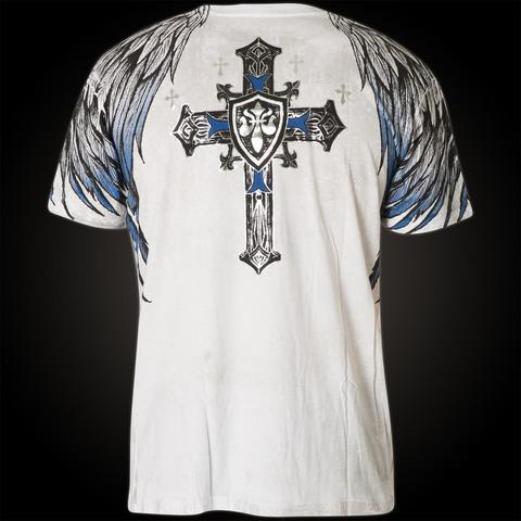 Футболка Tempest Xtreme Couture от Affliction белого цвета спина