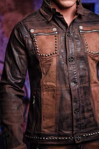 Куртка мужская джинсовая The Saints Sinphony TSJ012BRB боковые карманы спереди