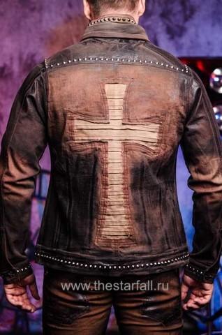 Куртка мужская джинсовая The Saints Sinphony TSJ012BRB спина