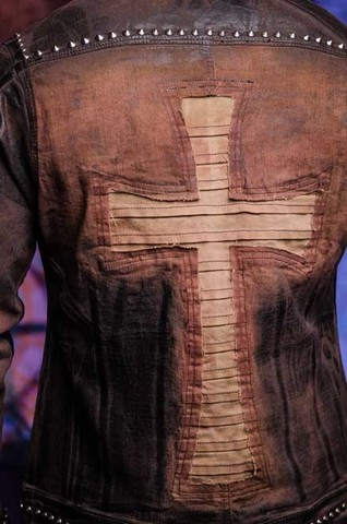 Куртка мужская джинсовая The Saints Sinphony TSJ012BRB аппликация на спине крест