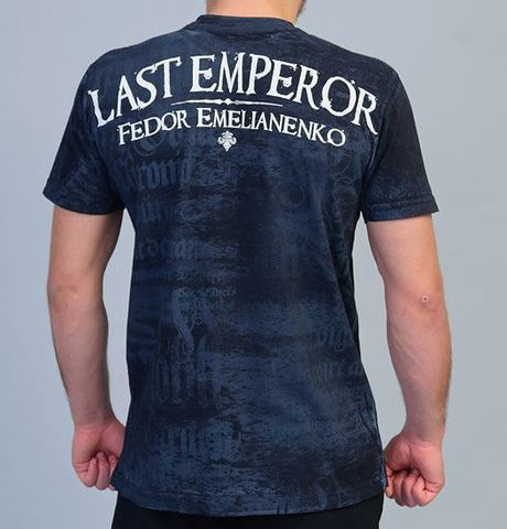 Last Emperor | Футболка мужская Warbird Fedor Emelianenko Black TF27-BLK от Affliction спина
