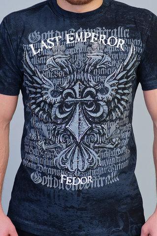 Last Emperor | Футболка мужская Warbird Fedor Emelianenko Black TF27-BLK от Affliction принт спереди