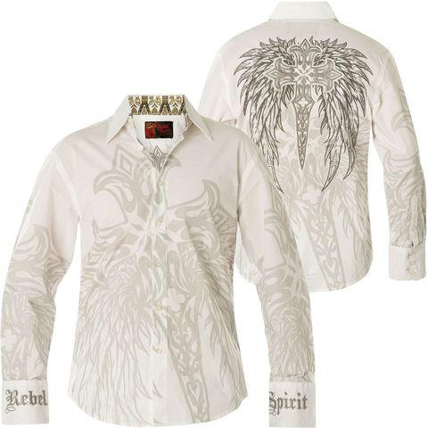 Рубашка Rebel Spirit LSW110778 спина и перед