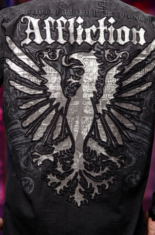 Affliction   Рубашка мужская A229097 принт на спине орёл