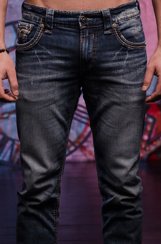 Rock Revival | Джинсы мужские RAINE J208 STRAIGHT CUT JEAN RP2194J208 передние карманы