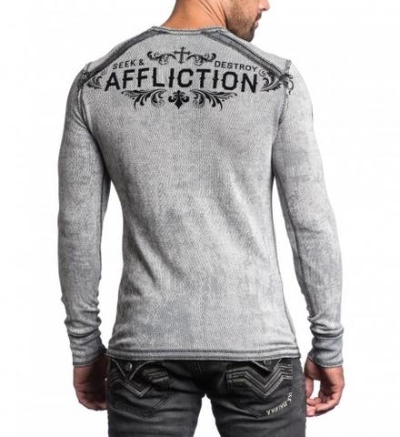 Affliction   Пуловер мужской двусторонний Signify Thermal A12603 спина