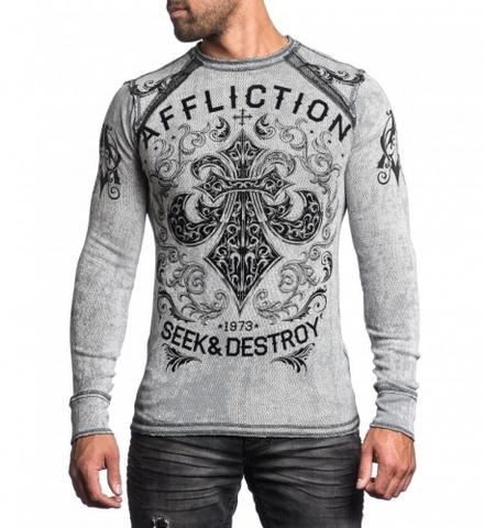 Affliction   Пуловер мужской двусторонний Signify Thermal A12603 перед