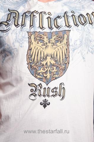 Футболка rush georges st-pierre от affliction белая принт спереди
