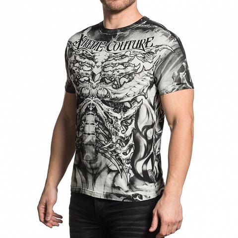 Xtreme Couture | Футболка мужская BIOMECHANICAL X1652 от Affliction левый бок
