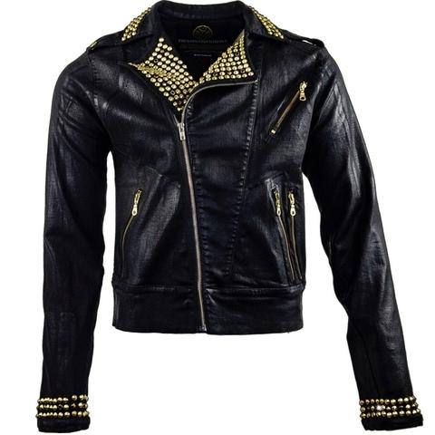 Куртка джинсовая The Saints Sinphony J072 BLACK WAX BIKER JACKET