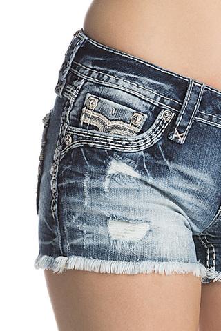 Rock Revival | Шорты женские джинсовые NISHA H201 SHORTS RP9588H201 передний карман
