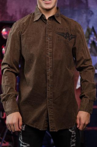 Affliction   Рубашка мужская A225582 перед