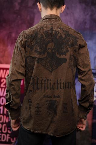 Affliction   Рубашка мужская A225582 спина на модели