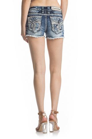 Rock Revival | Шорты женские джинсовые NISHA H201 SHORTS RP9588H201 сзади