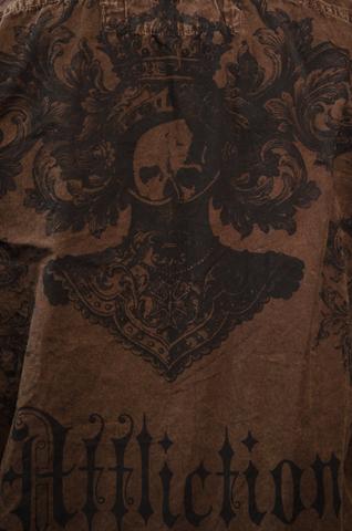 Affliction   Рубашка мужская A225582 принт на спине рыцарь