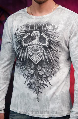Affliction | Пуловер мужской A226809 принт спереди геральдический орёл