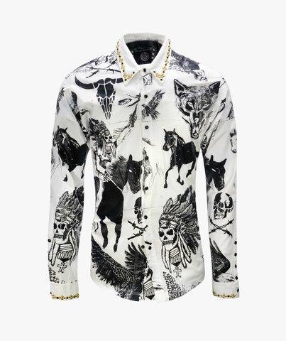 Рубашка The Saints Sinphony MULTI IMAGE WASH WHITE