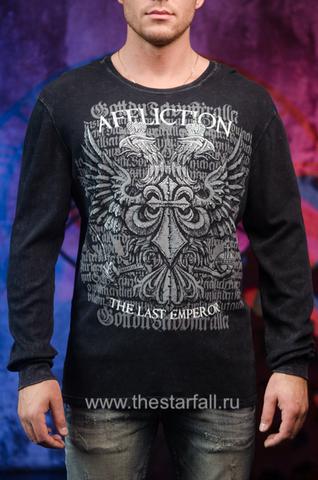Черный пуловер Affliction Last Emperor Fedor