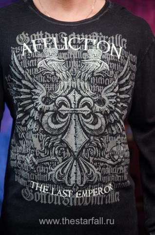 Affliction | Пуловер мужской Fedor Warbird Last Emperor A1091 принт спереди двуглавый орёл