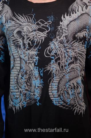 Xtreme Couture | Пуловер мужской Double Up X1457 от Affliction принт спереди драконы