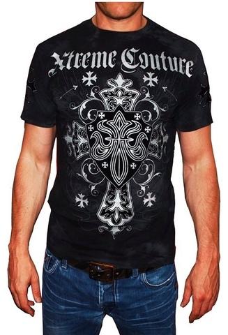 Xtreme Couture | Футболка мужская Charlie Foxtrot X1237 от Affliction перед на модели
