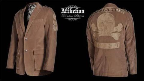 Affliction | Пиджак мужской Squadron Tan AJ903 спина и перед