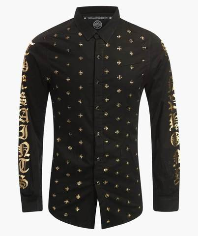 Рубашка The Saints Sinphony BULLETPROOF GOLD BUTTON UP
