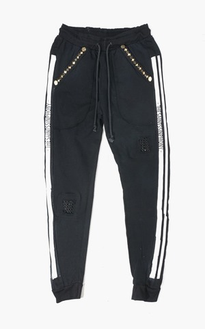 Джоггеры F006 TRACKPANT BLACK AND GOLD The Saints Sinphony TSSX2