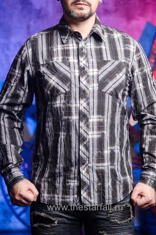 Affliction | Рубашка мужская A251 перед на модели