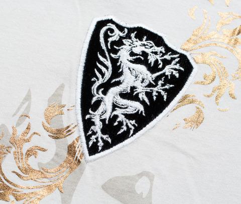Футболка Rebel Spirit SSK131494 передний принт и вышивка геральдический дракон