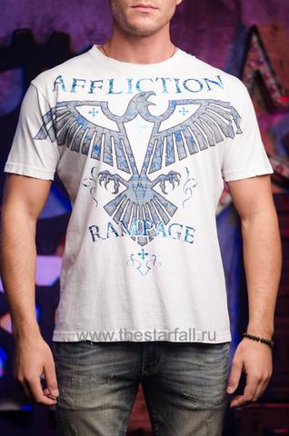 Affliction | Футболка мужская Rampage Army White Signature Series A2954W перед