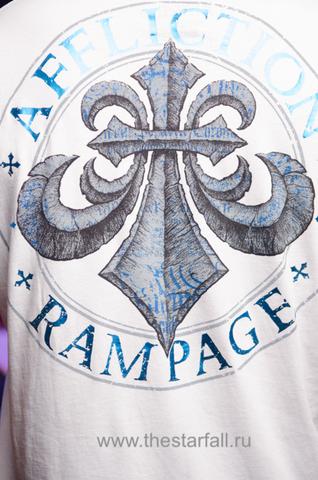 Affliction | Футболка мужская Rampage Army White Signature Series A2954W принт на спине