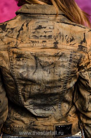 Джинсовая куртка Robin's Jean RJ55 спина