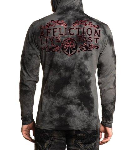 Affliction | Худи мужское VIRTUE A23252 с надписью спина на модели