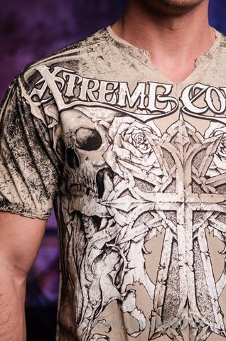 Футболка MUERTE Xtreme Couture от Affliction принт спереди крест и черепа